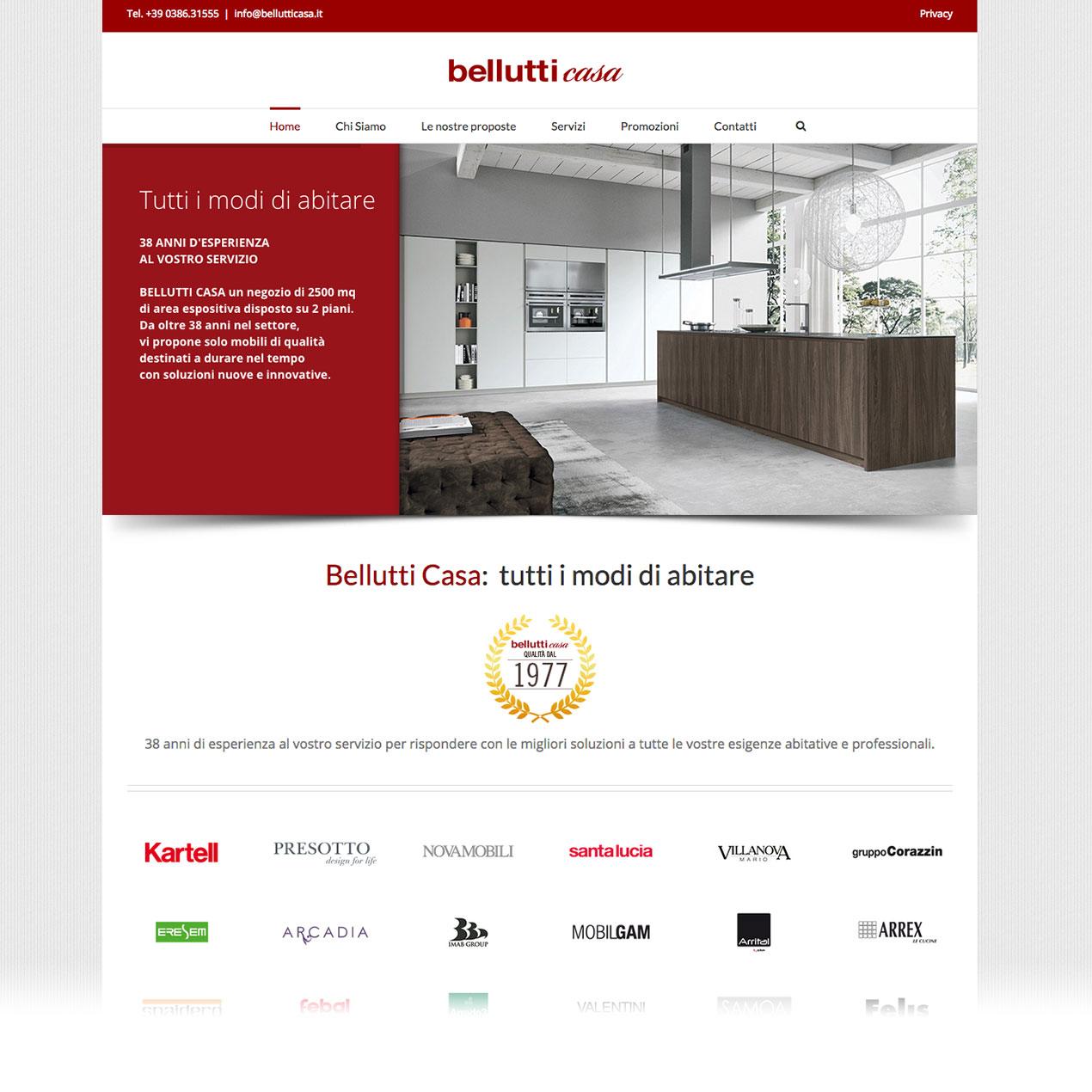 BELLUTTI CASA RESTYLING WEBSITE 2015