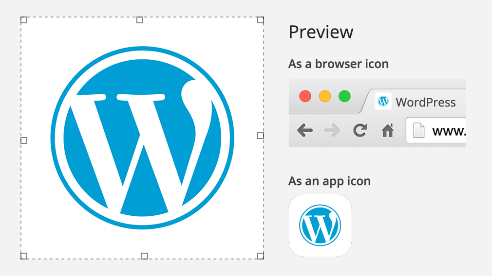 site icon customizer